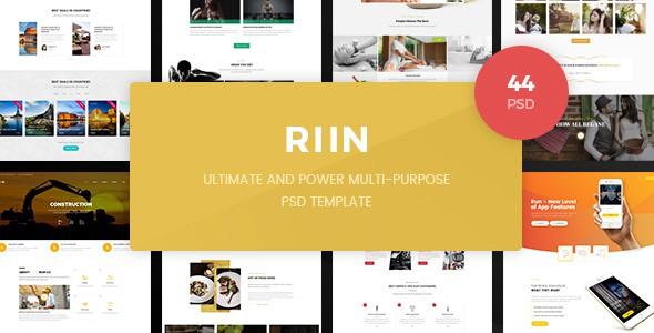 Run - Powerful Multi-Purpose PSD Template