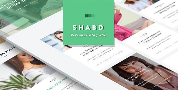 Shabd - Personal Blog PSD Template