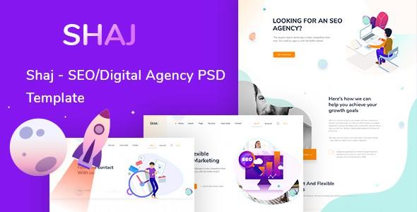 SHAJ - SEO/Digital Agency PSD Template
