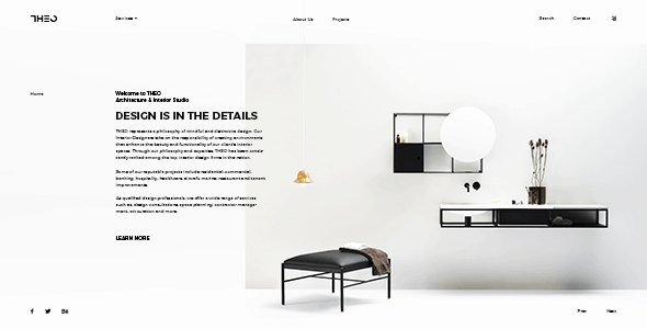 THEO - Architecture & Interior PSD Template