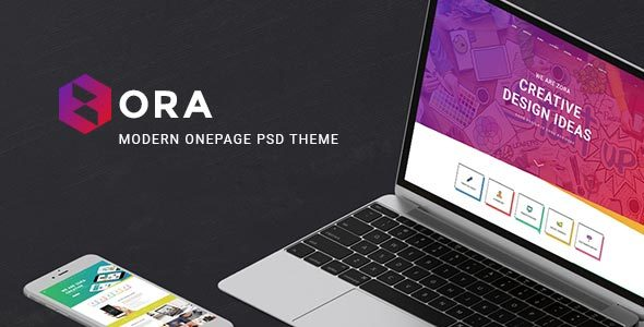 Zora - Modern Onepage PSD Template