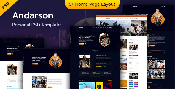 Andarson - Personal PSD Template
