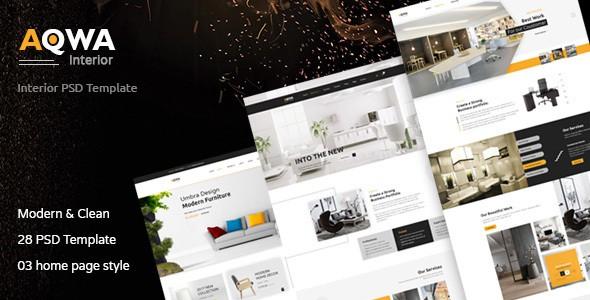Aqwa - Interior and Furniture PSD Template