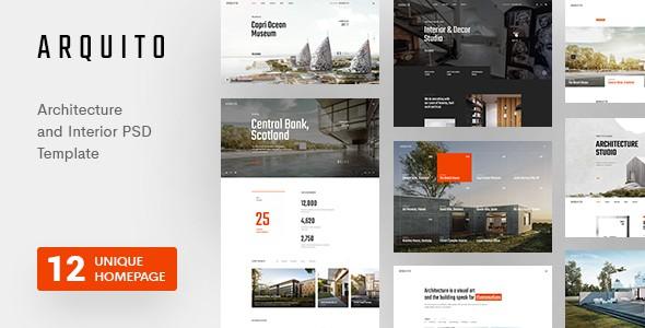 Arquito - Architecture & Interior PSD Template
