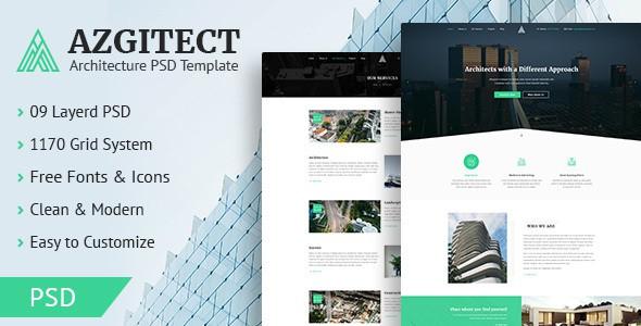 Azgitect - Architecture PSD Template