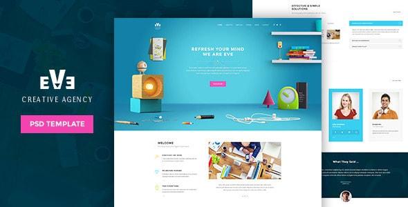 Eve   Creative PSD Theme