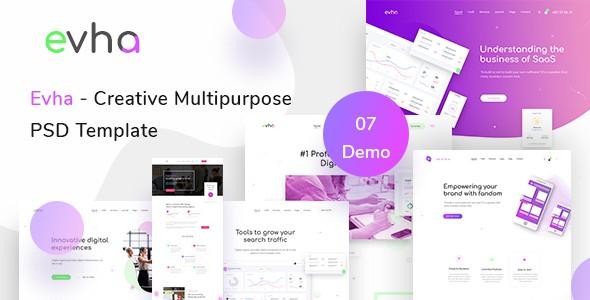 Evha - Creative Multipurpose  PSD Template
