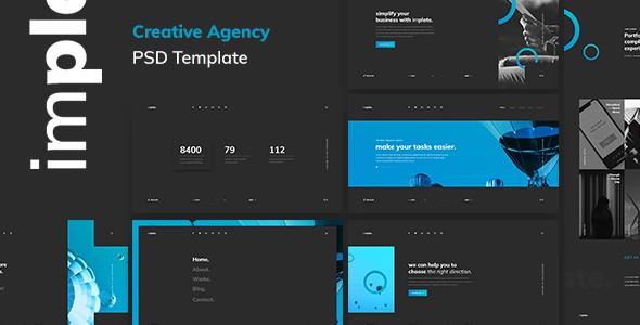 implate. — Creative Agency PSD Template