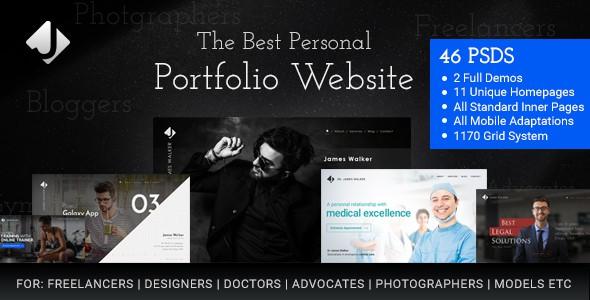 James Walker Personal Freelance Website