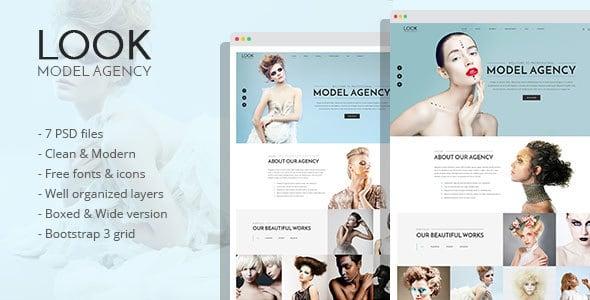LOOK - Model Agency PSD Template