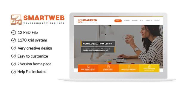 Smartweb - Freelancer Web & Graphic Agency PSD Template