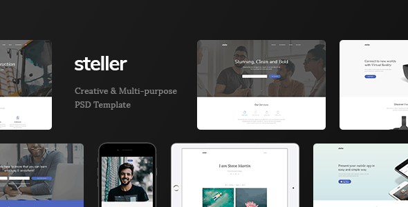 Steller - Marketing Landing Page PSD Template