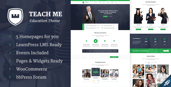 Teach Me - Education PSD Template