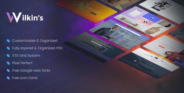 Wilkins | Website Builder Muti-Purpose PSD Template