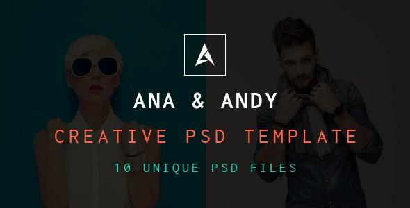 Andy & Ana Creative PSD Template