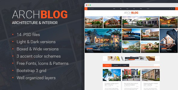 Arch Blog - Architecture and Real Estate Blog PSD