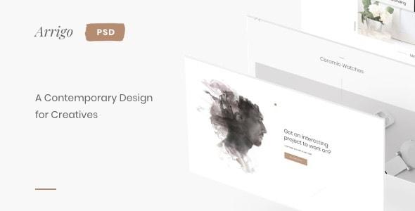 Arrigo – A Contemporary PSD Template for Creatives
