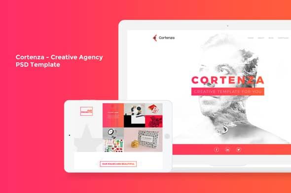 Cortenza - Creative Agency PSD Template
