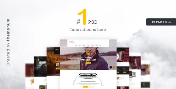 Creative Multipurpose PSD Template | NumberOne