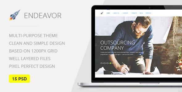 Endeavor — Multipurpose IT & Digital Company PSD Template