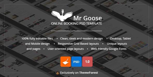 Mr Goose - Creative PSD Template