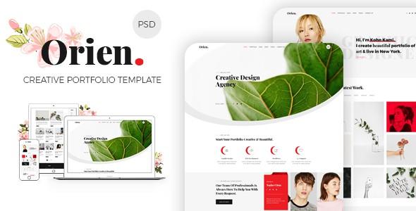 Orien - Creative Portfolio PSD Template
