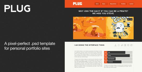 Plug - A Personal Portfolio PSD Theme