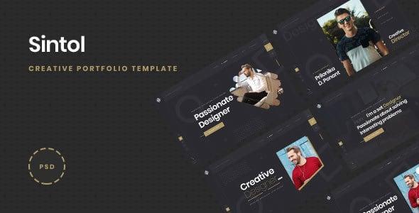 Sintol - Personal Portfolio PSD Template