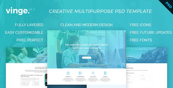 Vinge - Multi-Purpose PSD Template