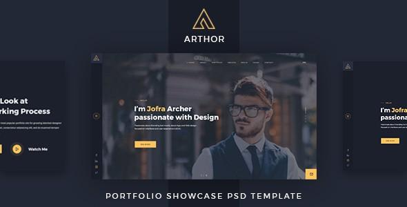Arthor - Creative Portfolio Showcase PSD Template