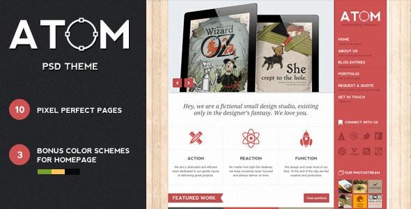 Atom - A Design Studio PSD Template