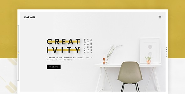 Darwin | Creative Portfolio PSD Template