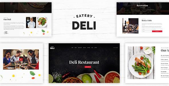Deli Restaurant | Restaurant PSD Template