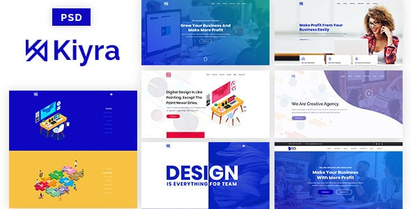 Kiyra - Ultimate Creative PSD Template