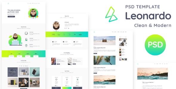 Leonardo - Personal Portfolio PSD Template