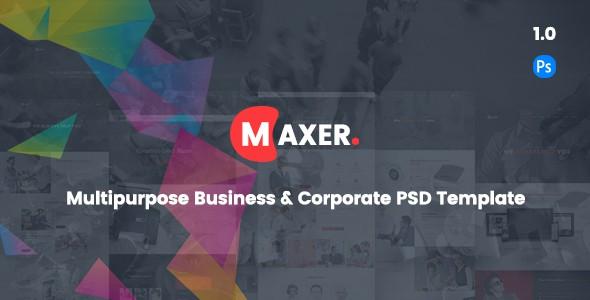 Maxer - Creative Multipurpose Business & Corporate PSD Template