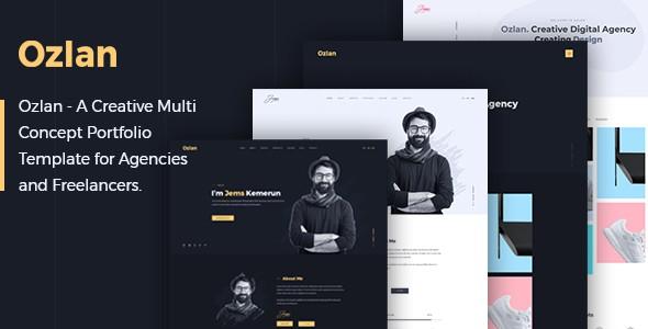 Ozlan - A Creative Multi-Concept Portfolio PSD Template for Agencies and Freelancers