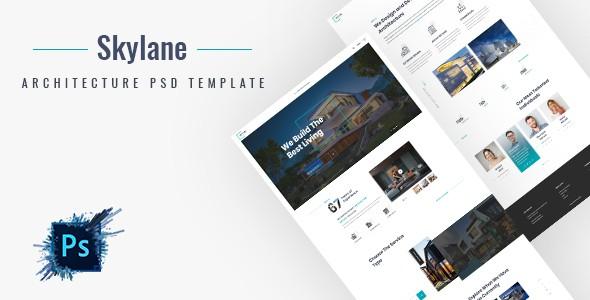 Skylane | Creative Architecture PSD Template