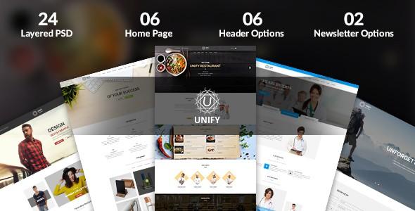 Unify - Multipurpose PSD Template