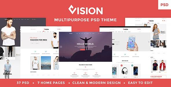 Vision - Multipurpose Store | Portfolio | Blog PSD Template