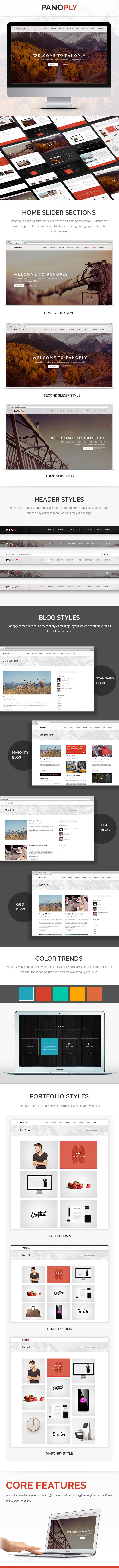 Panoply - Creative One Page Multipurpose PSD Template - 1