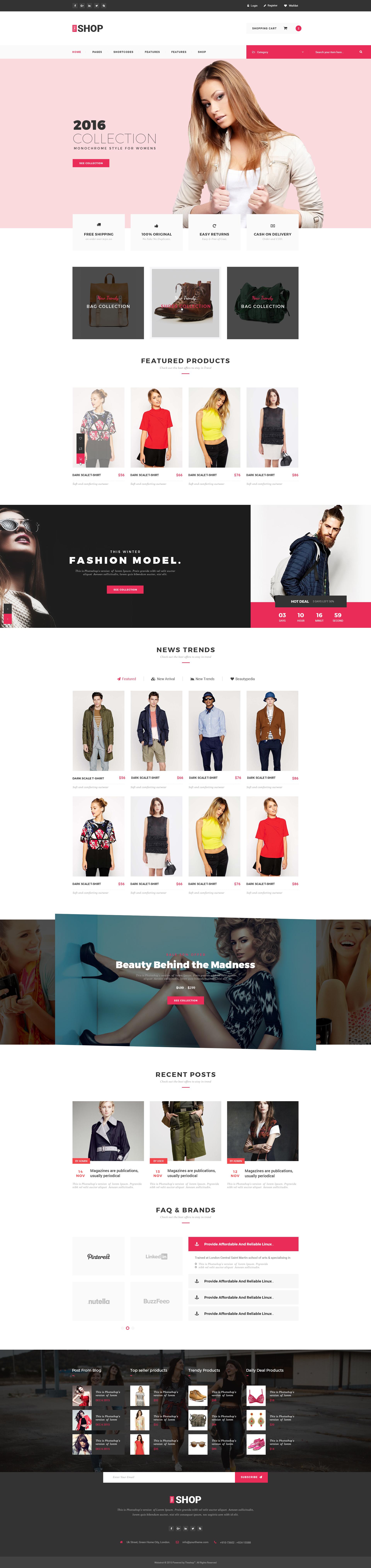 The Shop | e-commerce PSD Template