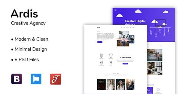 Ardis - Creative Agency PSD Template