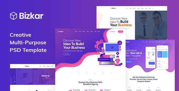 Bizkar - Creative Multi-Purpose PSD Template