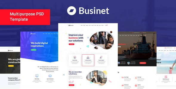 Businet - Multipurpose Business PSD Template