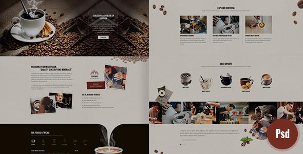 CoffeeSK Psd Template