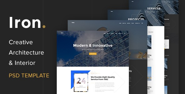 Creative Architecture & Interior PSD Template