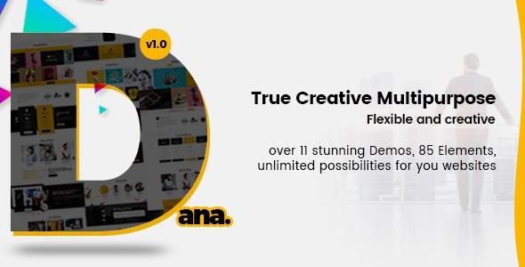 Dana - Ultimate Multi-Purpose Corporate Business and Agency PSD Template