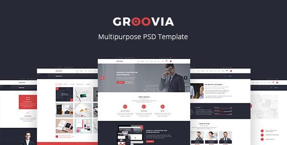 Groovia - Multipurpose PSD Template