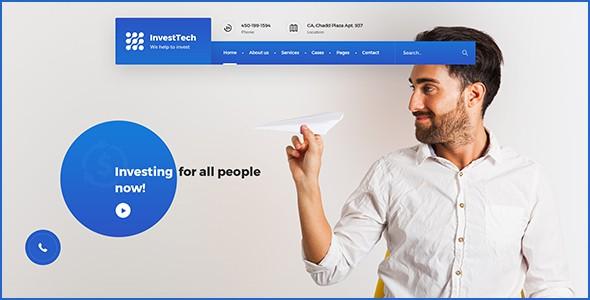 InvestTech - corporate PSD template